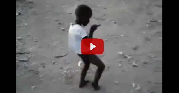 little Haitian boy dancing